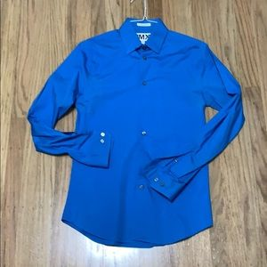 Express extra slim fit small 14-14 1/2 blue